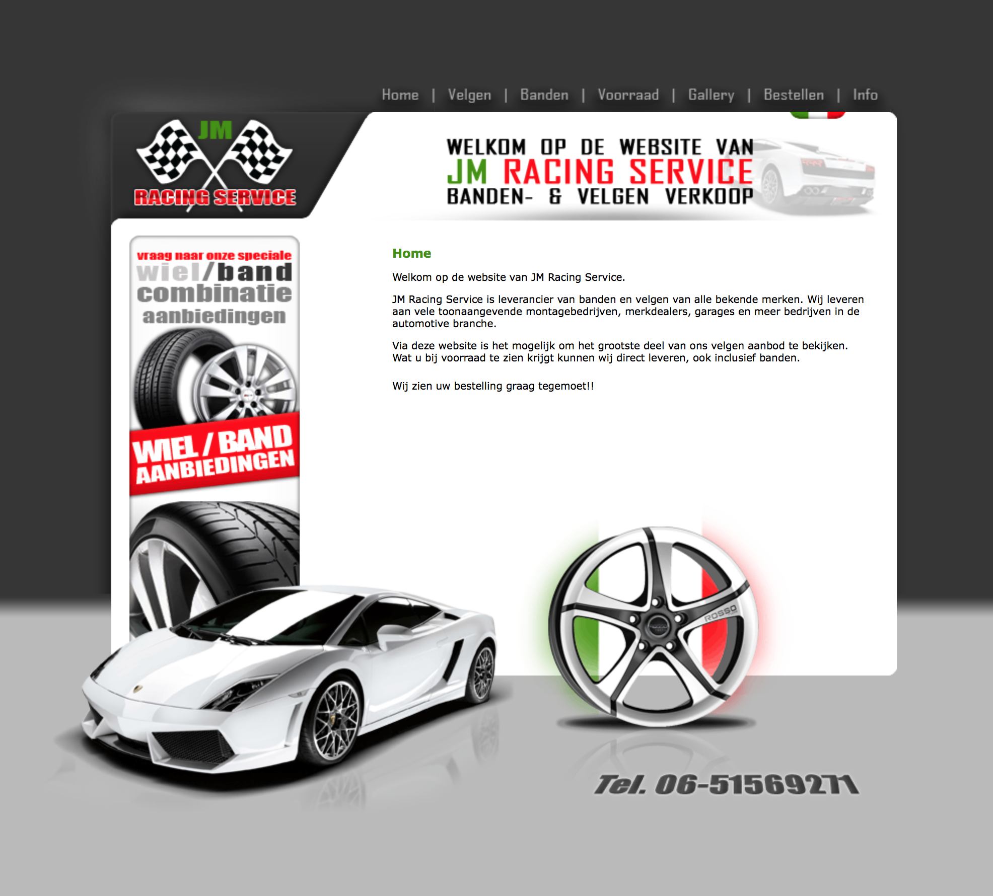 jmracing.nl website design