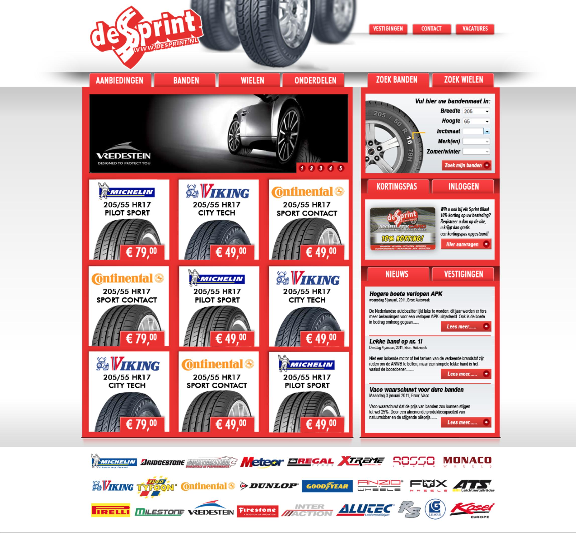 De Sprint website design