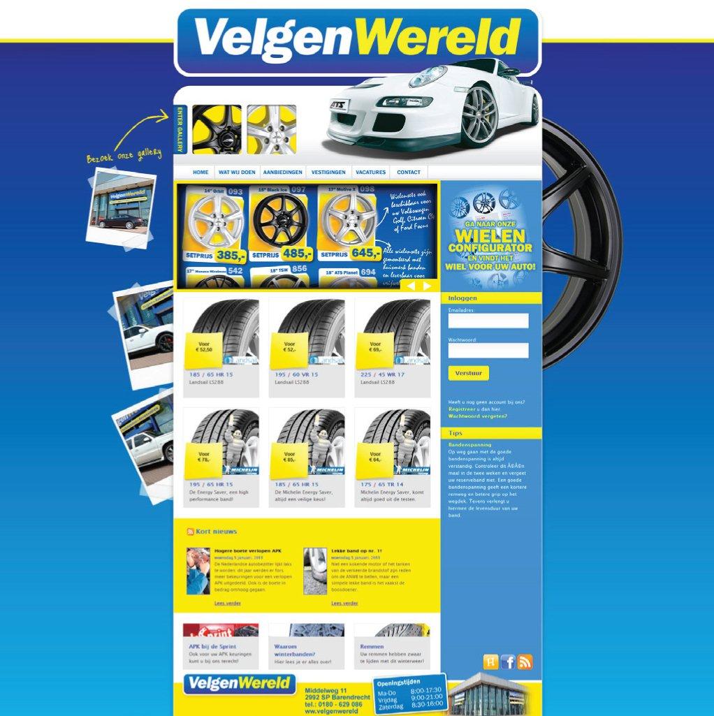 Velgenwereld website design
