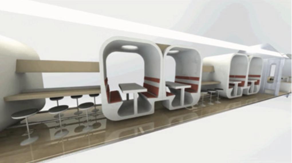 Train interior design