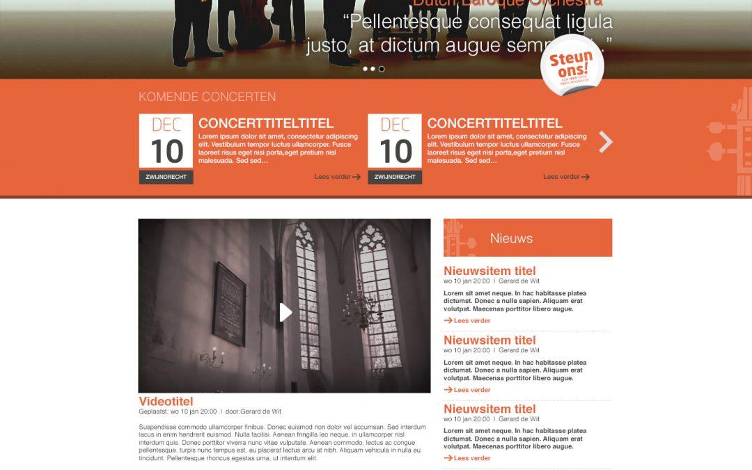 Dutch Baroque web design