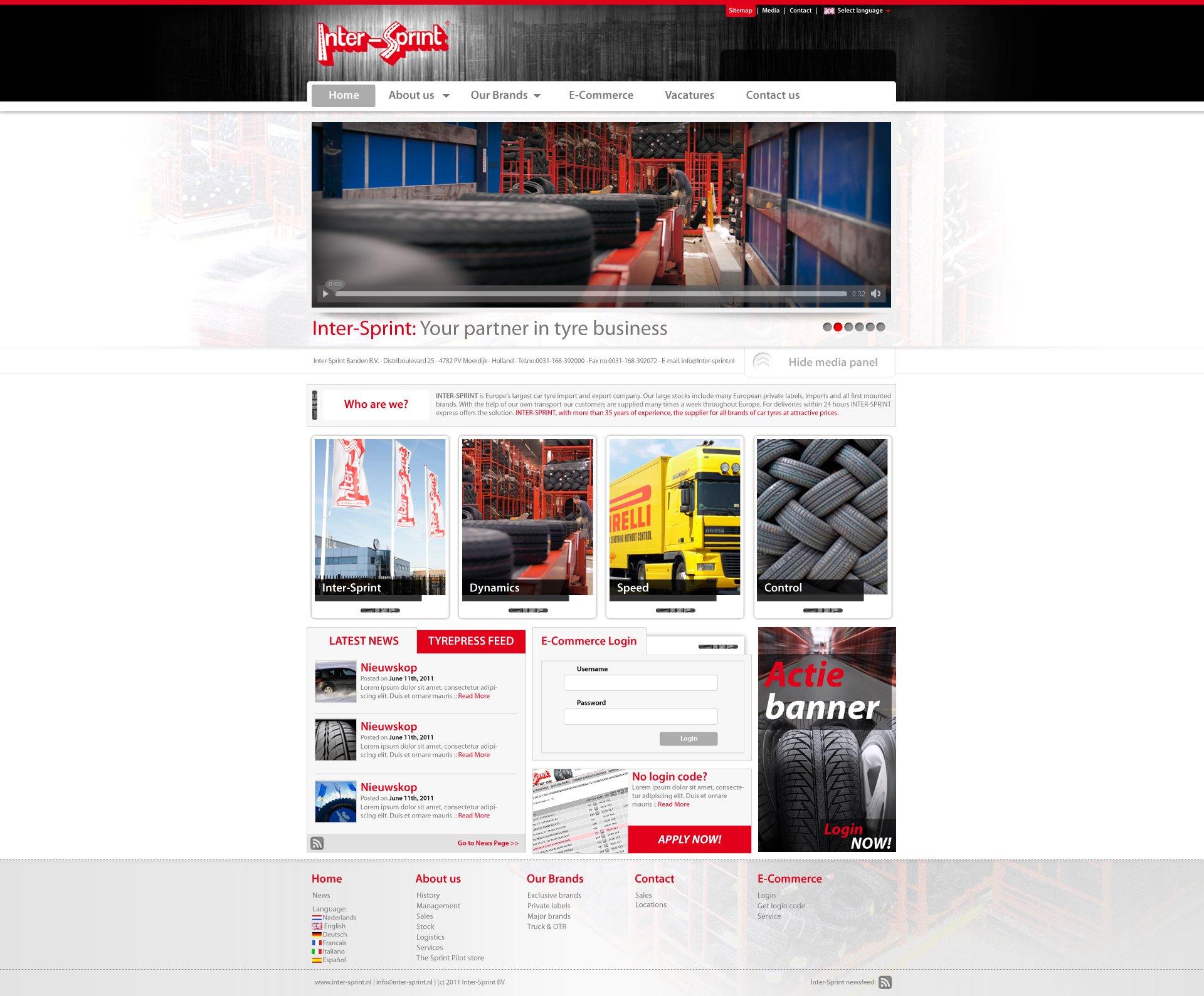 Inter-Sprint website Design
