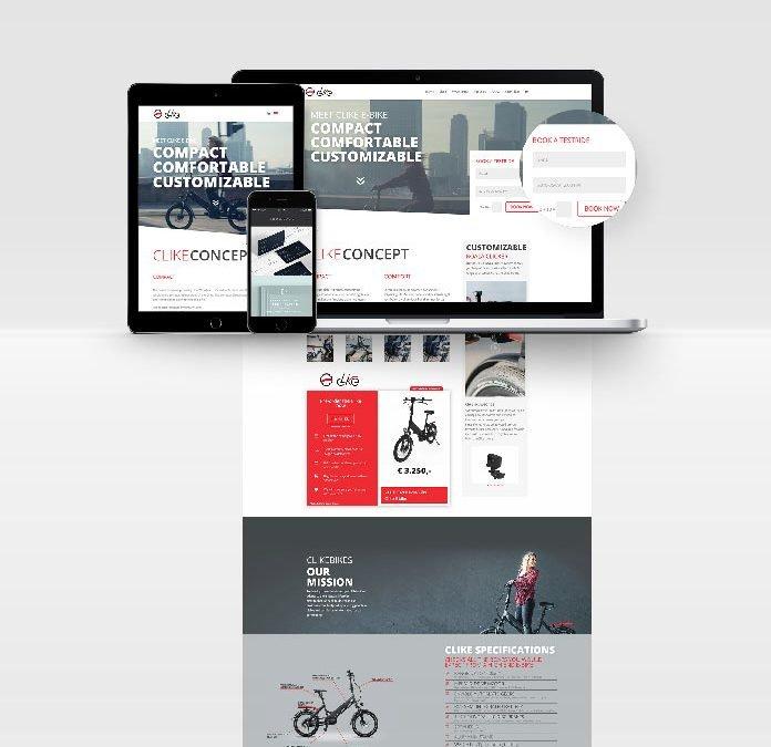 Clike Bikes Website / Webshop