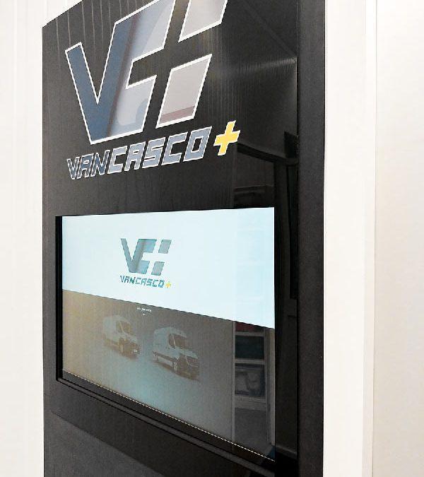 VanCasco+ configurator en configurator schermzuil